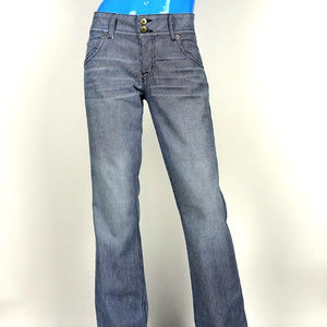 Hudson Railroad Striped Bootcut Jeans 31 Flare